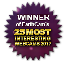 Winner of EarthCam's 25 Most  Interesting Webcams 2017