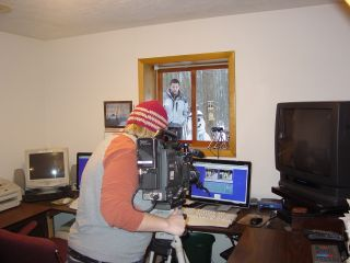 TV 9 and 10 News story being taped on December 13, 2007.