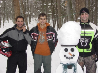 Randy, Trenton and Ryan Bailey from Owosso, Michigan. December 13, 2009