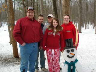 Finnerty family from Taylor Michigan. Marty, Tracy, Nick, Katie & Amber 2-7-09