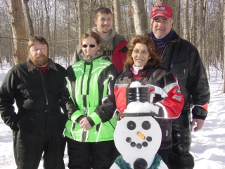 Rick & Carol Graustein, Rob, JoAnn & Ryan Hendricks. All from Manchester, MI. 1-16-10