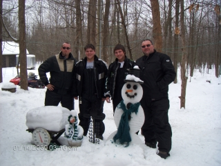 Nick, Tyler, Seth, & Jay Hewig from Elmore, Ohio. January 14, 2010.