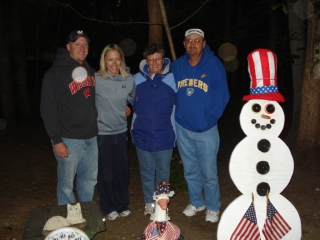 Joe & Trista Hemme with Judy & Mike Oestreich all from Greendale, Wisconsin. 7-6-09