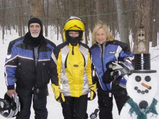 George & Maxine Nennstiel from Gaylord Michigan. Brenda Kelly from Corunna Michigan. 1-31-10
