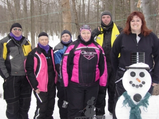 Some of the participants in the Pink Ribbon Riders cancer ride. February 14, 2010