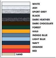 Color Chart for Snowman  Cam clothing. Click for larger image.