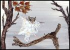 Flying squirrel in flight. Painting courtesy of Tansy Phillips.