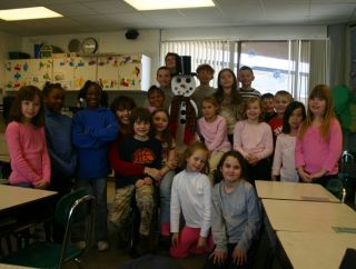 Ms Guccini's second grade class at Pine Tree Elementary School in Lake Orion, Michigan. Photo courtesy of Richard Guccini.