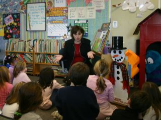Snowman helps to make learning fun. Photo courtesy of Richard Guccini.