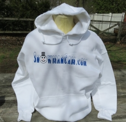 Snowman Cam Hoodie available in a variety of colors. See color chart.  Click to enlarge.