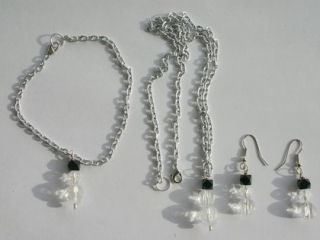 Snowman Bracelet, Necklace & Earrings Set